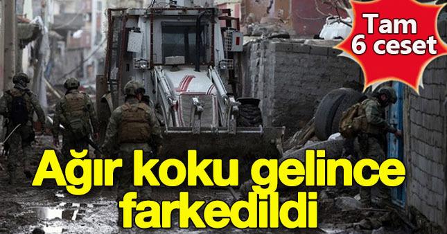 6 PKK'lının cesedi bir evden çıktı