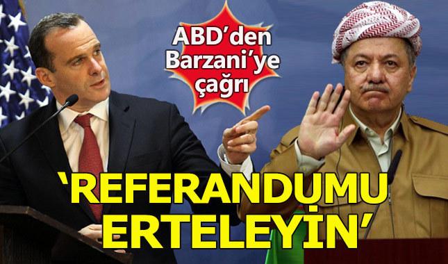 ABD, Barzani'den referandumun ertelenmesini talep etti