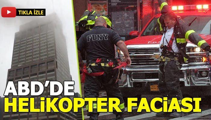 ABD'de helikopter gökdelene çarpıp düştü