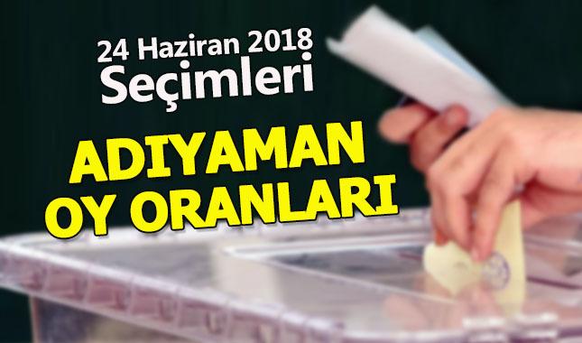 ADIYAMAN Seçim sonuçları - 2018   Cumhurbaşkanı ve Parti oy oranları   Kesinleşmiş sonuçlar