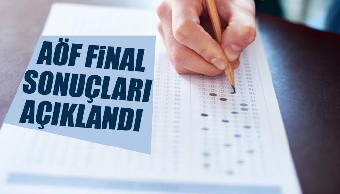 AÖF final sonuçları açıklandı
