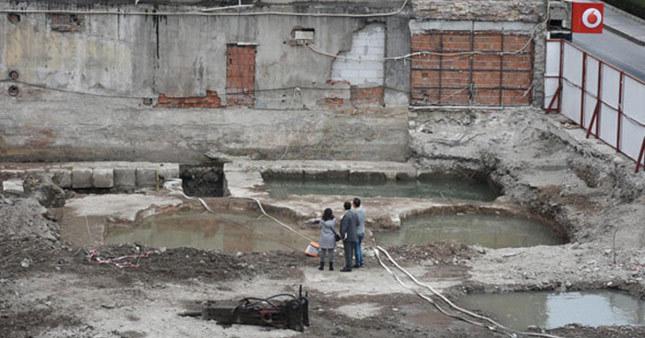 AVM inşaatının temelinden tarihi eser çıktı