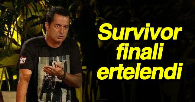 Acun Survivor finalini erteledi