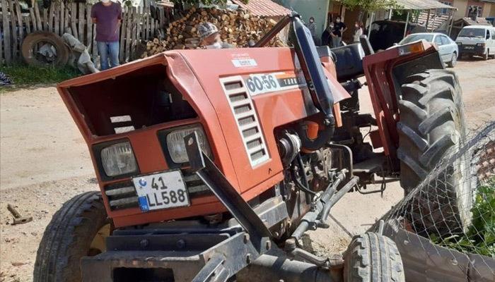 Afganistan uyruklu genç,traktör altında kaldı