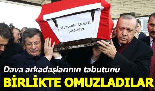 Ak Partili eski vekilin tabutunu Erdoğan ve Davutoğlu sırtladı