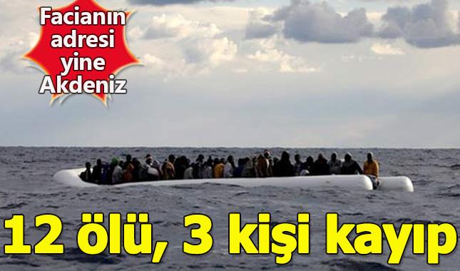 Akdeniz'de göçmen botu battı: 12 ölü, 3 kişi kayıp