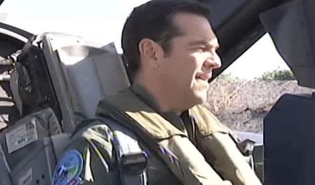 Alexis Çipras, F-16 ile Ege'de uçtu