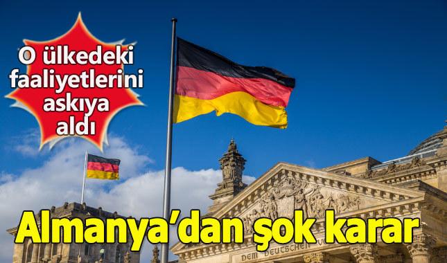 Almanya, Irak'taki askeri faaliyetlerini durdurdu