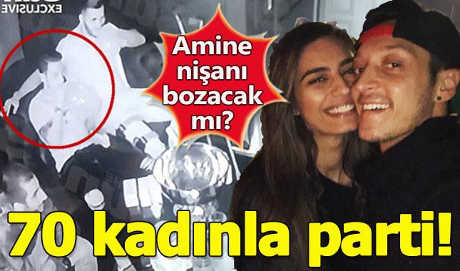 Amine Gülşe'nin nişanlısı Mesut Özil 70 kadınla 'Hippy Crack' partisinde yakalandı