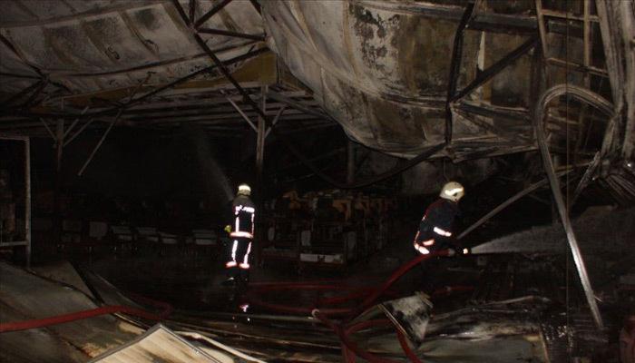 Ankara Akyurt'ta korkutan fabrika yangını!