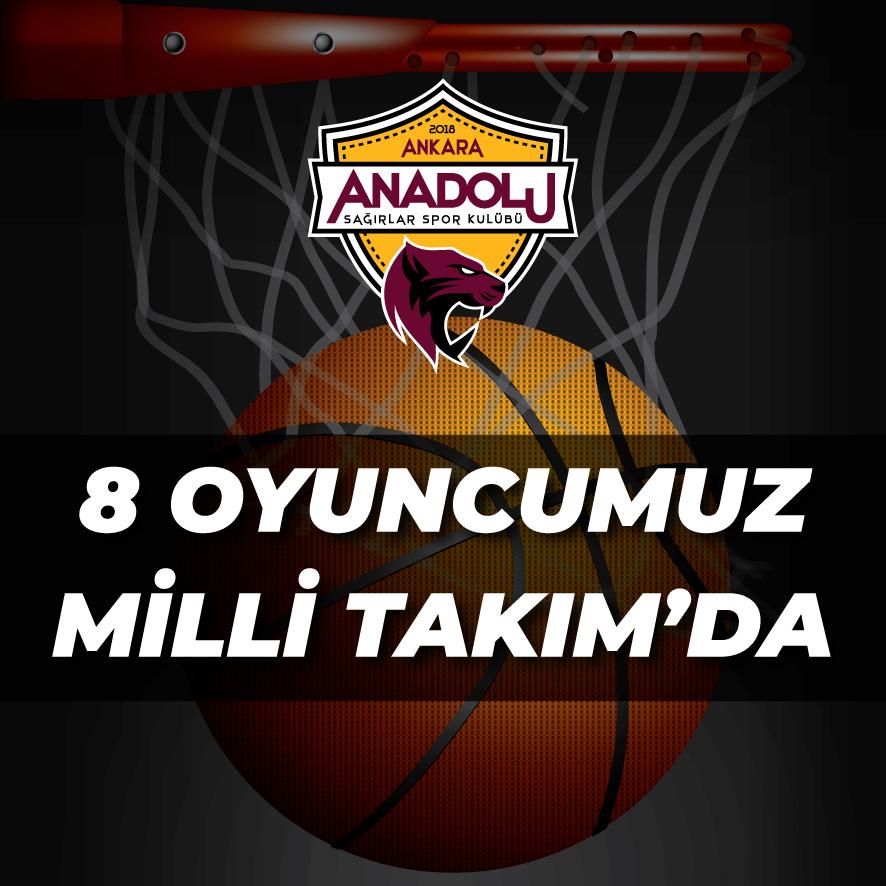 Ankara Anadolu Sağırlar Spor Kulübünden Milli Takım'a 8 oyuncu
