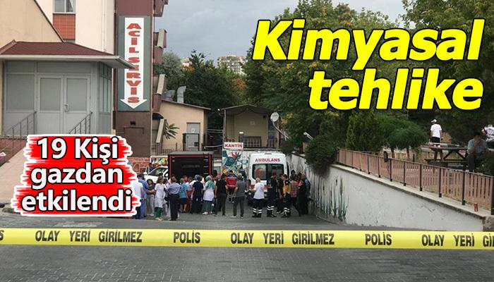 Ankara'da kimyasal tehlike