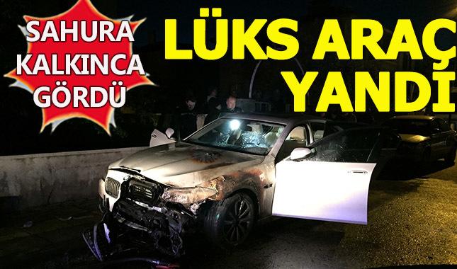 Ankara'da lüks aracı yaktılar