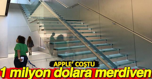 Apple yeni mağazası için tam 1 milyon dolara merdiven yaptırdı