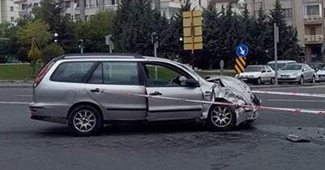 Araç kaza yaptı, içinden 13 kişi çıktı