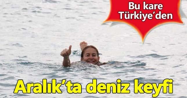 Aralık ayında Antalya'da deniz keyfi