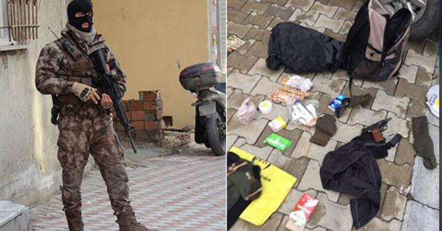 Aranan terörist polisle çatıştı
