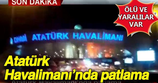 Atatürk Havalimanı dış hatlarda 3 ayrı patlama