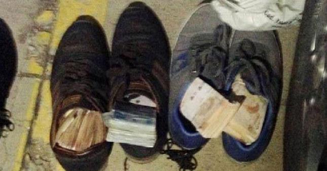 Ayakkabıların içinden 40 bin tl çıktı