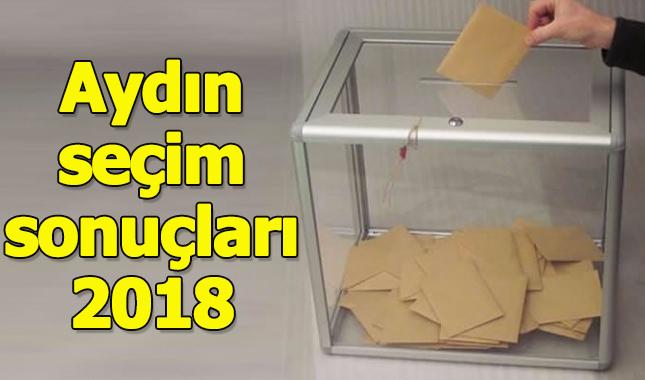 Aydın seçim sonuçları 2018 - 24 Haziran oy oranları