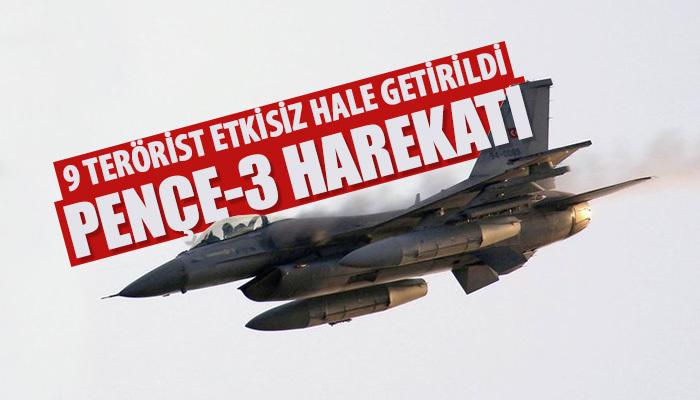 Bakanlık açıkladı: 9 PKK'lı öldürüldü