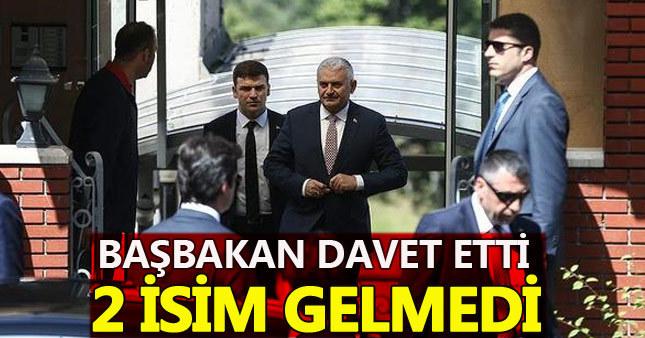 Başbakan'ın yemek davetine AKP'de 2 önemli fire