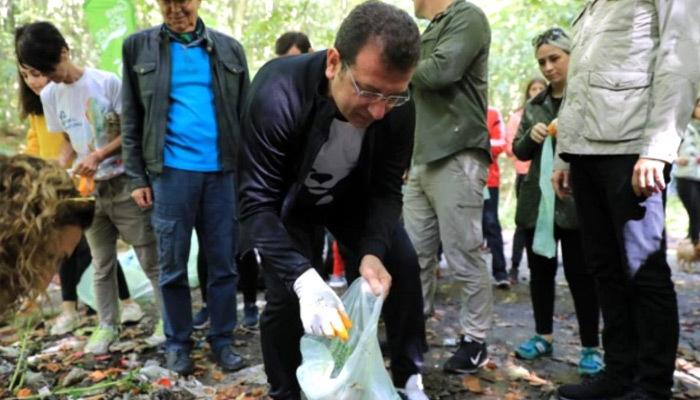 Belgrad Ormanı'nda çöp topladı!