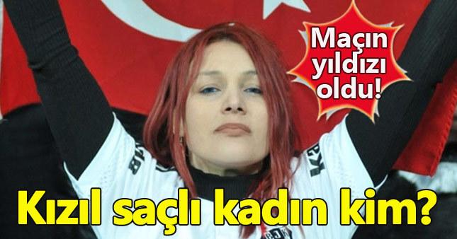 Beşiktaş maçındaki kızıl saçlı kadın kim?