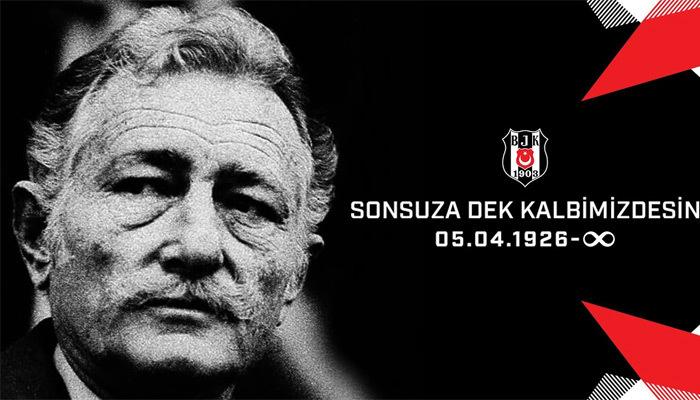 Beşiktaş'ta onursal başkan Süleyman Seba anıldı