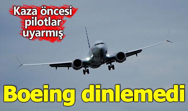 Boeing firması, kaza öncesi uyarılmış