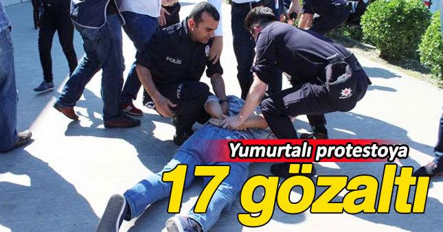 Burhan Kuzu'ya 'yumurtalı' protestoda 17 gözaltı