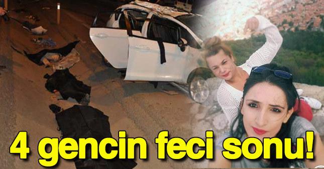 Bursa İnegöl'de feci kaza: 4 ölü, 1 yaralı
