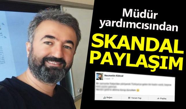 Bursa'da müdür yardımcısından tepki çeken paylaşımlar