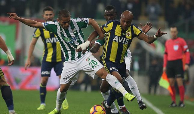 Bursaspor ile Fenerbahçe berabere kaldı