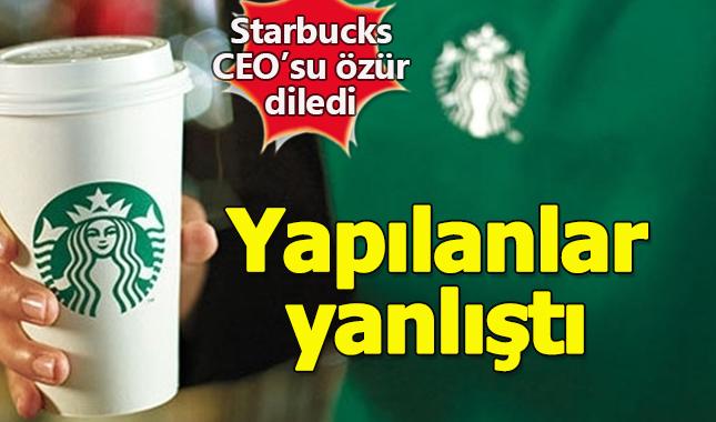Starbucks CEO'su iki siyahi insanın dükkandan kovulması sebebiyle özür diledi