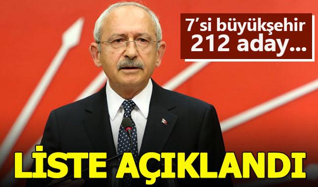 CHP'de 212 belediye başkanı adayı daha açıklandı