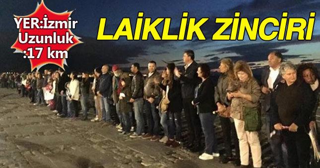 CHP'den İzmir'de 17 kilometrelik laiklik zinciri