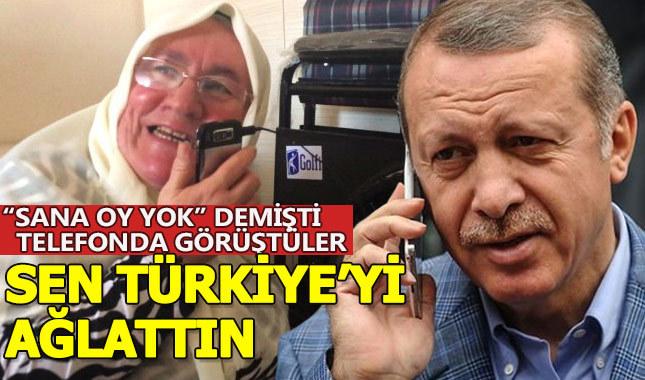 """CHP'li İmamoğlu'na """"Sana oy yok"""" diyen Mehruze Teyze, Erdoğan'la telefonda görüştü"""
