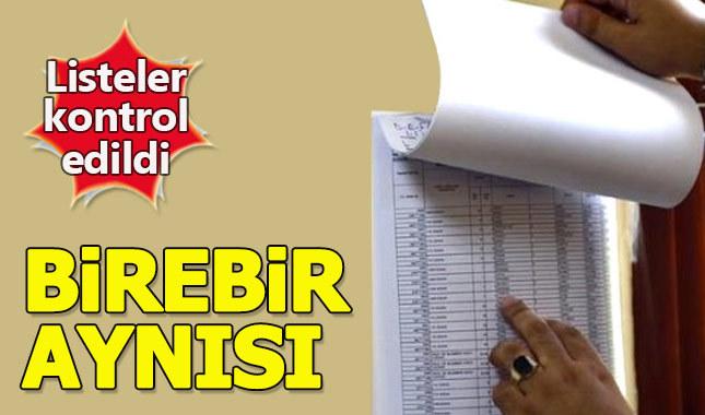 CHP'ye göre seçmen listeleri 31 Mart'takiyle aynı