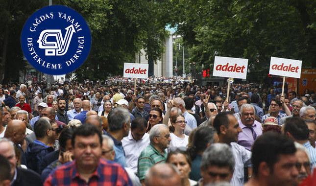 ÇYDD'den Adalet Yürüyüşü'ne destek