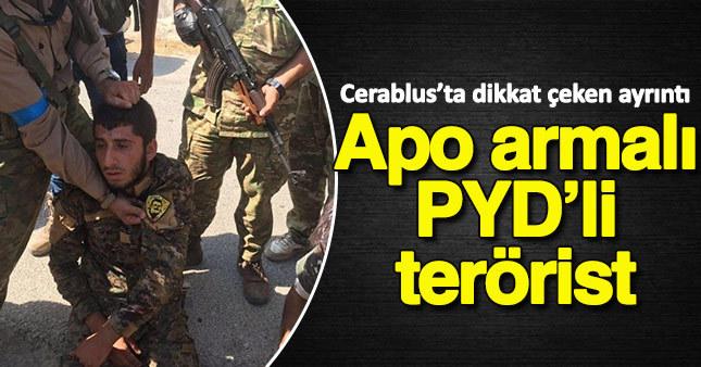 Cerablus'ta APO armalı PYD'li terörist