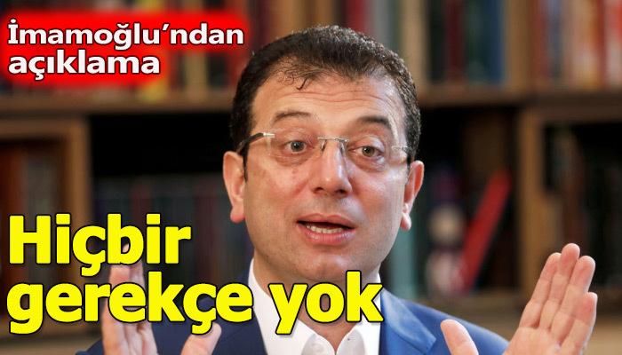 Chp İstanbul adayı Ekrem İmamoğlu'ndan YSK açıklaması geldi
