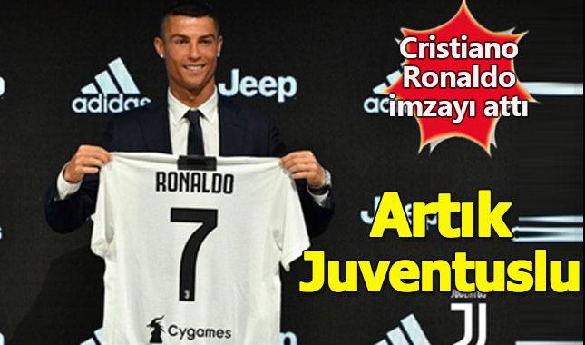 Cristiano Ronaldo imzayı attı! Artık resmen Juventus'ta