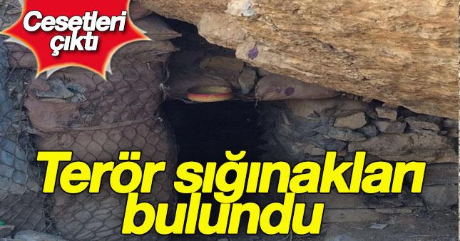 Çukurca'daki terörist sığınakları görüntülendi