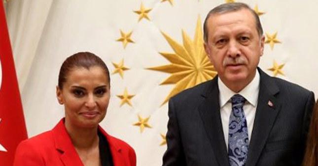 Cumhurbaşkanı Erdoğan Hande Fırat'ı konuk etti