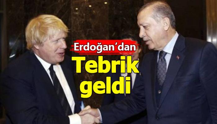 Cumhurbaşkanı Erdoğan, İngiltere Başbakanı'nı tebrik etti