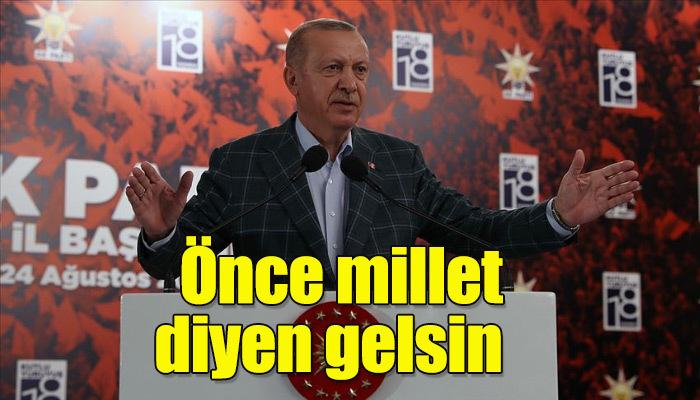 Cumhurbaşkanı Erdoğan Rize'de konuştu