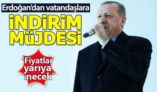 Cumhurbaşkanı Erdoğan: Temizlik ürünleri de indirimli satılacak