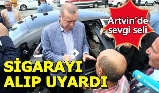 Cumhurbaşkanı Erdoğan'a Artvin'de büyük ilgi