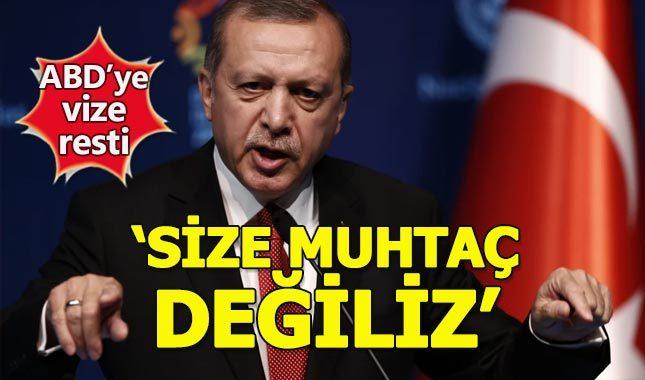 Cumhurbaşkanı Erdoğan'dan ABD'ye vize resti